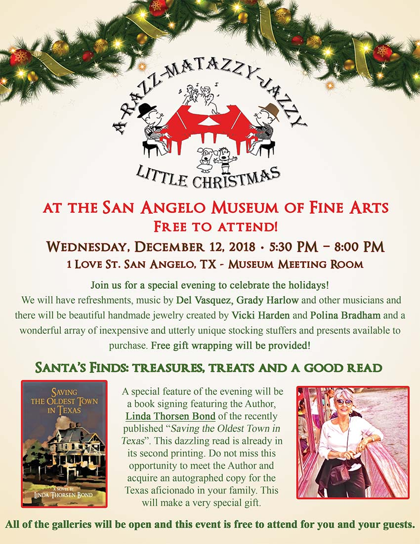 a razz matazzy jazzy little christmas san angelo museum of fine arts